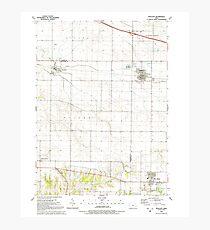 USGS TOPO Maps Iowa IA Walcott 175680 1991 24000 Photographic Print