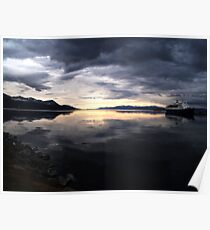 Ushuaia Harbour at Dawn Poster