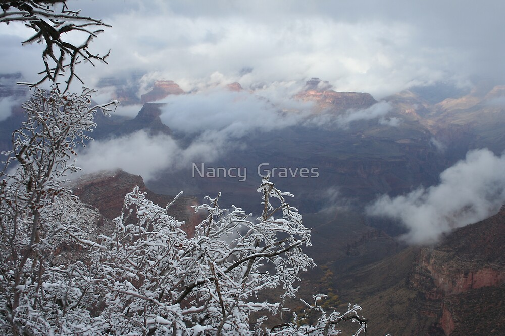 Snow Clouds in Canyon by Nancy  Graves