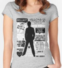 Doctor Who - 10th Doctor Quotes Women's Fitted Scoop T-Shirt