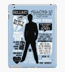 Doctor Who - 10th Doctor Quotes iPad Case/Skin
