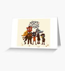 night in the jungle Greeting Card