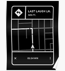 Fluorescent Adolescent - Last Laugh Lane Directions Poster