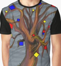 Mondrian - De Stijl Tree Graphic T-Shirt