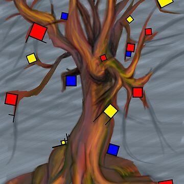 Mondrian - De Stijl Tree by lantanagames