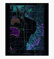 USGS TOPO Map Iowa IA Council Bluffs South 174393 1956 24000 Inverted Photographic Print