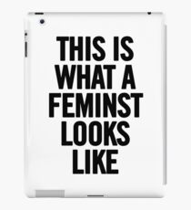 This Is What A Feminist Looks Like Tee TShirt iPhone Case (Black) iPad Case/Skin