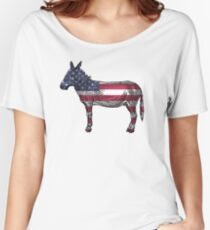 USA Flag Donkey Women's Relaxed Fit T-Shirt