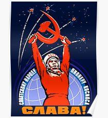 Sowjetische Propaganda. Yuri Gagarin Poster