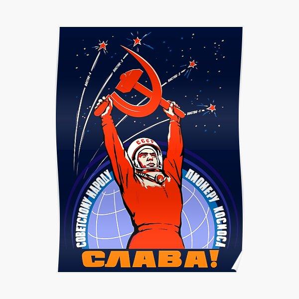 Propagande soviétique. Youri Gagarine Poster