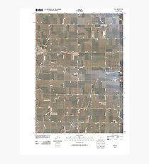 USGS TOPO Maps Iowa IA Gaza 20100514 TM Photographic Print