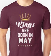 Birthday Boy's Tee - Kings are born in May T-Shirt Unisex T-Shirt