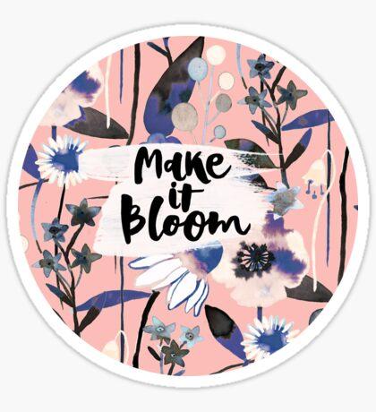 Pink pastel flowers pattern Sticker