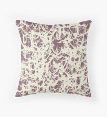 Shades of Being, coordinate 1, red & beige Throw Pillow