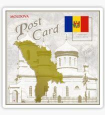 Moldova Curio Post Card Sticker