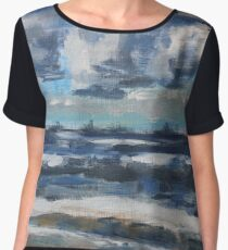 Clouds over Ostend on a Spring Day Chiffon Top