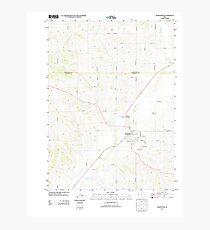 USGS TOPO Maps Iowa IA Mapleton 20130416 TM Photographic Print