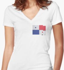 Panama Women's Fitted V-Neck T-Shirt