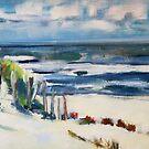 Sonniger Tag an einem Strand von Flandern von Christel  Roelandt