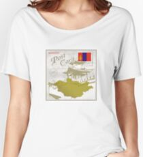 Mongolia Curio Post Card Women's Relaxed Fit T-Shirt