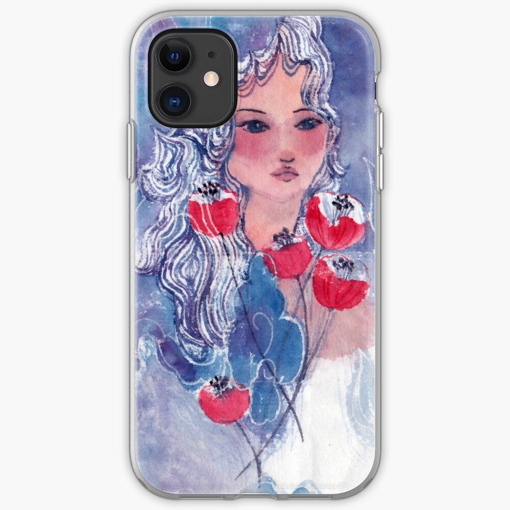 Tulips Girl  iPhone Case & Cover