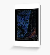 USGS TOPO Map Iowa IA Kingston 174932 1964 24000 Inverted Greeting Card