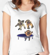who let the pugs out Women's Fitted Scoop T-Shirt