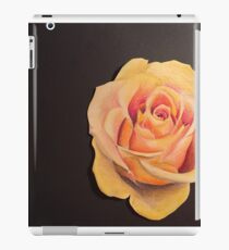 Yellow Colored Pencil Rose iPad Case/Skin