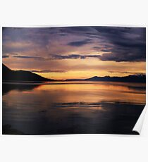 Ushuaia Harbour early morning light Poster