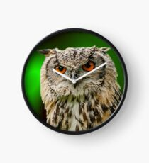 Indian Eagle Owl Clock