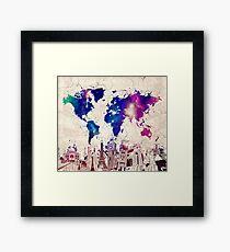 world map Framed Print