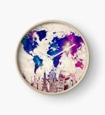 Reloj mapa del mundo