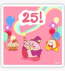 Kirby 25th Anniversary Sticker