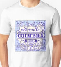 Traditional Portugal Ceramic Coimbra Vintage Vector Illustration Unisex T-Shirt