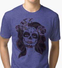Skull girl Tri-blend T-Shirt