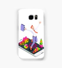 Isometric Vector 3D Businessman Infographic Business Man Jumping Samsung Galaxy Case/Skin