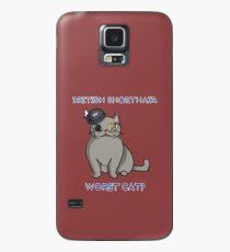 Funda/vinilo para Samsung Galaxy British Shorthair: ¿el peor gato?