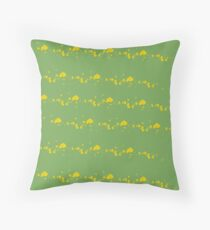Shades of Being, coordinate 2, green & yellow Throw Pillow