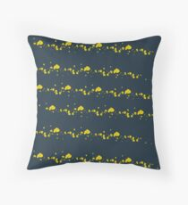 Shades of Being, coordinate 2, blue & yellow Throw Pillow