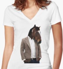 Horseman Women's Fitted V-Neck T-Shirt