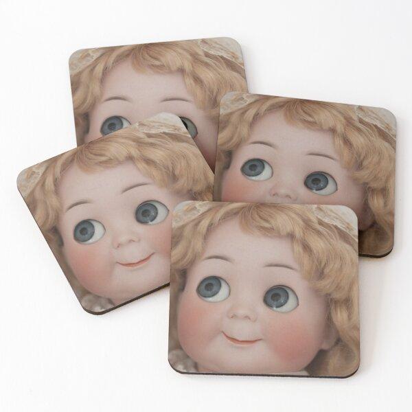 Googly Girl Coasters (Set of 4)