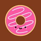 Cute Happy Pink Donut by mycutelobster