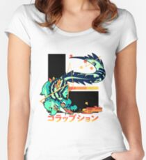 Crocodile: CORRUPTION Women's Fitted Scoop T-Shirt