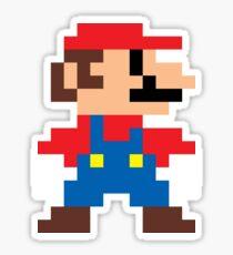 Super Mario 8-Bit Sprite Modern Colors Sticker
