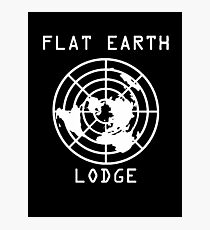 Flat Earth Lodge - Official Logo Photographic Print