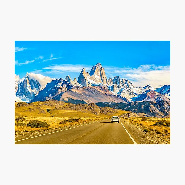 Snowy Andes Mountains, El Chalten, Argentina Photographic Print