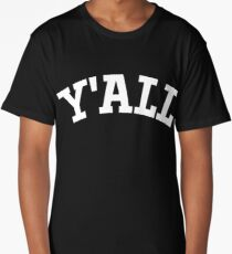 Y'ALL - Yale, University, College, Parody, Ivy League Long T-Shirt