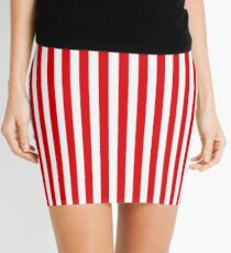 Red Stripes Mini Skirt