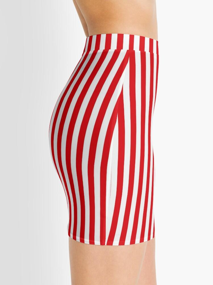 Alternate view of Red Stripes Mini Skirt