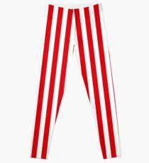 Rote Streifen Leggings